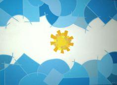 """""""Alta en el Cielo"""" 2011 Marcela Levy Para estas fechas vale la pena revivir esta serie. Alta en el cielo 2011 Serie Celeste y Blanca  #art  #artist  #paint  #painting  #arte  #myart  #myartwork  #artwork   #color  #fineart  #abstract  #abstractart  #abstraction  #acrylic  #acrylicpainting  #acryliconcanvas  #banderaargentina  #argentina  #argentineart  #argentineflag  #flag  #marcelalevy  #marcelalevyart  #colorfield  #bandera  #banderaargentina Birthday Background, South America, Origami, Abstract Art, Flag, Collage, Fine Art, Quilts, Artwork"""