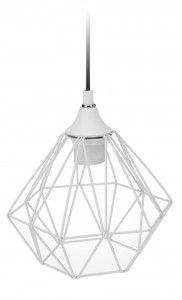 Lampa geometryczna druciana- biała nr. 3