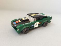 https://flic.kr/p/23c3EaY | 1968 Ford Mustang Fastback (Speed Champions 75884 MOD) | Another modification of a Speed Champions model which admittedly took more time than expected (more or less a whole weekend). It can be called a mixture between my Eleanor (same dimensions) and the SC model. The main task was, as usual, to set down the model considerably. The frontend is less protruding now (the hood part is set back a halfstud and slanted). Another goal was to omit the ugly gap at the rear…