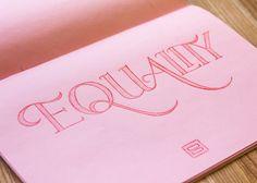 Lettering 1 by Sarah Sugarman, via Behance