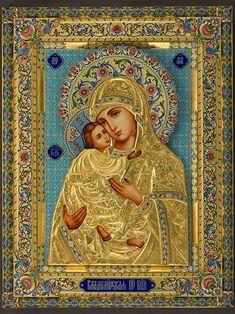 Владимирская икона Божией Матери, серебряный оклад, серебро, купить, заказать, горячие эмали, филигрань, перегородчатая эмаль