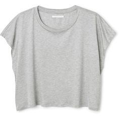Mika tee ❤ liked on Polyvore featuring tops, t-shirts, scoopneck tee, grey top, scoop neck t shirt, gray t shirt and cropped scoop neck tee