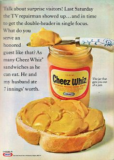 Cheez Whiz - Family Circle July 1968