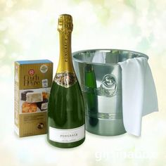 - or Pongraczulations with this beautiful champagne gift hamper of top notch sparkling wine beautifully presented in an ice bucket with nougat bon-bons. South African Wine, Wine And Liquor, Sparkling Wine, Corporate Gifts, Special Gifts, Wines, Anniversary Gifts, Wedding Gifts, Birthday Gifts