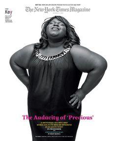 "#magazines #covers #newyorktimesmagazine feat. ""Precious' Gabourey Sidibe"