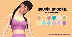 Sims 4 Updates: SimsWorkshop - Accessories, Jewelry : Loverett Double Choker Recolor 01 by PetalPlumbobs, Custom Content Download!