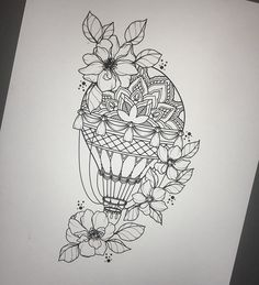 The image may include: drawing Tattoo Design Drawings, Pencil Art Drawings, Art Drawings Sketches, Tattoo Sketches, Tattoo Designs, Drawing Drawing, Air Balloon Tattoo, Dibujos Tattoo, Tattoo Outline