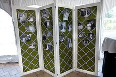 wedding picture display wall - Google Search