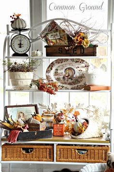 Common Ground: Painted Ceramic Cornucopia and a Thanksgiving Sunporch