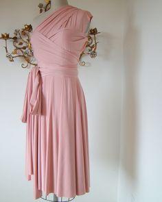 Light pink convertible wrap dress $79.99