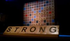Scrabbled from Elim Gospel Church in Lima, NY | Church Stage Design Ideas