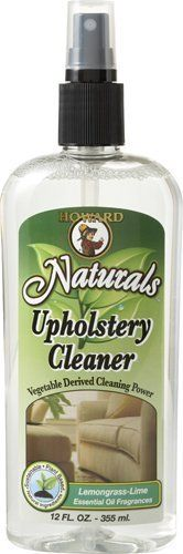 HOWARD UC5012 12-ounce Naturals Upholstery Cleaner, Lemongrass-Lime by HOWARD. $9.38. From the Manufacturer                Break free from chemical-based cleaners. Create a healthier living environment and transform the chore of cleaning into a refreshing, revitalizing experience. With the Howard Naturals Furniture and Kitchen Cleaning Collections you can renew your home and your spirits while you clean. We turned to the natural products industry to find the most ...
