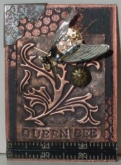 Queen Bee- Steampunk ATC