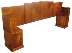 Headboard Art Deco Furniture, Furniture Styles, Bedroom Furniture, Furniture Design, Furniture Ideas, Linden Homes, Dining Suites, New York Buildings, Art Deco Bedroom