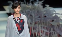 Armani's Milan fashion week show is more about power than clothes