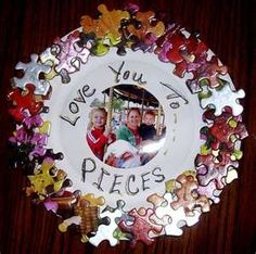 puzzle craft idea.  Ornament?