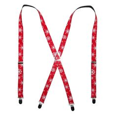 These Christmas suspenders would be a really adorable way to add some holiday spirit to your child's outfit.  They are perfect for family celebrations, school parties, and more!