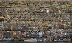 Amsterdam als inspiratiebron voor de collage-kunst van Jean-François Rauzier. Meer van Amsterdam is te zien bij Villa del Arte.