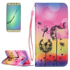 [$2.37] Dandelion Pattern Horizontal Flip Leather Case with Holder & Card Slots & Wallet & Lanyard for Samsung Galaxy S6 Edge+ / G928