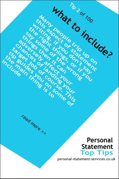Things you should or shouldn't include in Personal statement