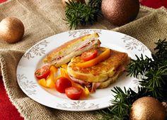 Croque monsieur - toast med ost, skinke og eggeblanding