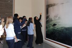 Alya Burhaima (center, leading class), contributor, The Adaptation of Western Museum Education Practices Museum Education, Arabian Peninsula, Latest Books, Museums, Public, Author, Writers, Museum