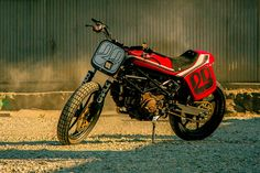 Limited production Ducati street tracker motorcycle by VW designer Alex Earle. - Bike EXIF