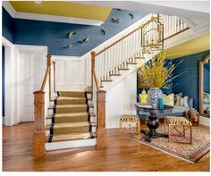 Stair Runner - how it ends on the bottom stair