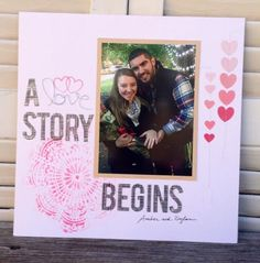 A Story Begins Layout- Rhonda Merry- Front Porch Kit- Greatest of these is Love