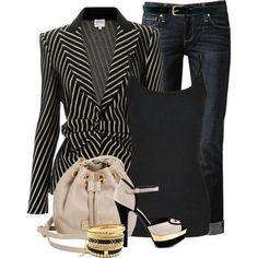 Stripes & jeans...