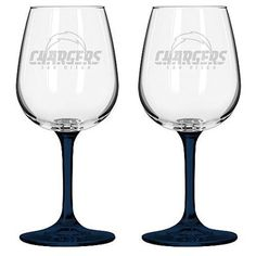 Boelter San Diego Chargers 12oz. Clear Wine Glasses - Set of 2