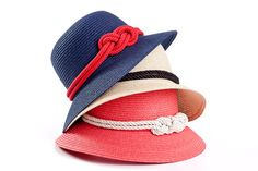 Straw hat Sun hat Off White hat with a red by LeopardValley