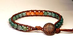 Check out this item in my Etsy shop https://www.etsy.com/listing/238276824/beaded-leather-wrap-bracelet-african