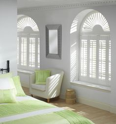 Whether its arched circular or angled windows Luxaflex has the answer. Our stylish interior shutters are available in a wide range of unique and individual options to dress any variety of window style. Luxaflex The Art of Window Styling Wooden Window Shutters, Indoor Shutters, Interior Window Shutters, Wooden Windows, Curtains For Arched Windows, Bedroom Windows, Casement Windows, Cafe Style Shutters, Arched Window Treatments