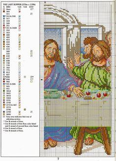 schema+punto+croce+L'ultima+cena+(7).jpg (1154×1600)