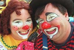 sweet clown lady face | Clown Face Painting Examples