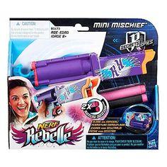 Nerf Rebelle Secrets & Spies Mini Mischief Blaster Toy Gun & Darts New/Sealed!! #Hasbro