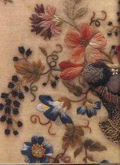 Flowers and berries#crewel #embroidery #@Anna Totten Totten Totten Halliwell Boyd Fontaine 2/5/13
