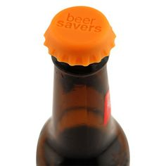 Beer Savers - Reusable Silicone Bottle Caps - clever, but seriously....who does not finish their beer???