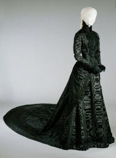 Black court dress of Empress Elisabeth  Vienna about 1885