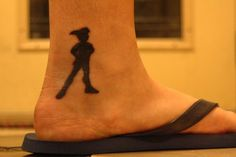 This is my first tattoo. I absolutely love it. Peter Pan was and still is a childhood hero of mine. He captures the innocence of childhood and everything I adore. I got this done at The Hornet's Nest in Louisville, Kentucky. I highly recommend them!