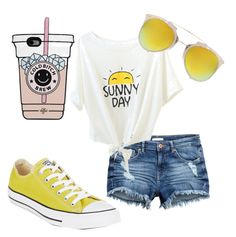 """""""🌞🌞🌞"""" by ayelencruzaguillon on Polyvore featuring Converse and Boohoo"""