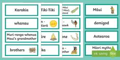 This handy set of word cards feature key vocabulary for Maui Myths. Great for a variety of activities, your children can use them as inspiration during independent writing activities, as a spelling aid, to start discussions about the topic and more. Writing Activities, Maui, Spelling, Vocabulary, Legends, Learning, Words, Children, Young Children