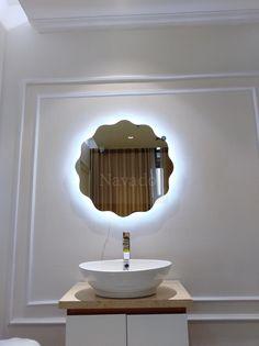 Home Design Decor, House Design, Home Decor, Led Mirror, Bathroom Lighting, Home, Decorative Mirrors, Bathroom Light Fittings, Decoration Home