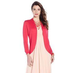 IMAN Global Chic Lightweight Luxury Draped Cardigan