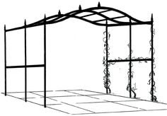 Wrought iron pergola gazebo - freestanding option this is what it looks like before the cover