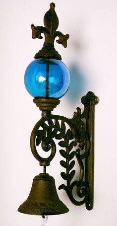 TRACTOR  BELL Painted DEERE Green  OUTDOOR DECOR CAST IRON