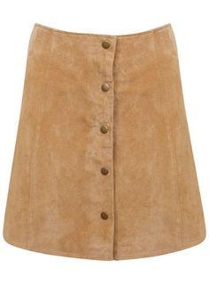 Suede Popper Skirt