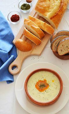 Recipe: Turkish Yogurt Soup - Yayla Çorbası - easy to make and so yummy! We love it! shewandersshefind.com #soup #recipe