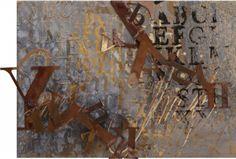 Gradazioni di grigio, 2012, mixed media on paper, canvas and corten iron, cm 50x70